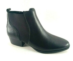 Aerosoles Criss Cross Black Leather Low Wedge Ankle Bootie - $79.20