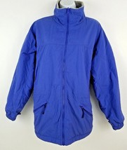 Columbia Blue Sherpa Lined Zip Up Women's Jacket Size L 28 25 - $23.55