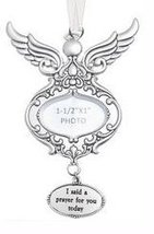 Ganz Watch Over Me Angels Photo Ornaments - I Said A Prayer For You - $14.99