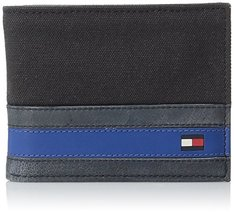 Tommy Hilfiger Men's Leather Passcase Wallet with Removable Card Holder,Exeter B
