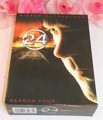 Primary image for 24 Kiefer Sutherland Complete Season Four TV Series Gently Used DVD's 7 Discs