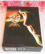 24 Kiefer Sutherland Complete Season Four TV Series Gently Used DVD's 7 ... - $19.99