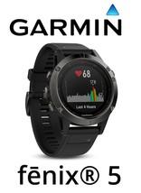 Garmin Fenix 5 Slate Gray Watch Multi Sport GPS Fitness Wrist HR w/Black... - $569.90