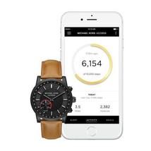 Brand New Michael Kors Scout Black-Tone Leather Hybrid Smartwatch MKT4024 - $199.99