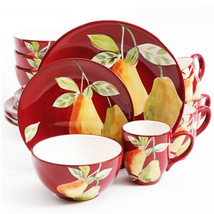 Gibsone Home Fruitful Pears 16pc Dinnerware Set - $74.82