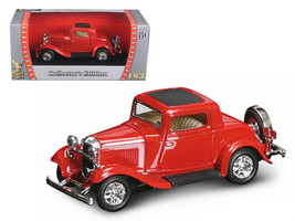 1932 Ford 3 Window Coupe Red 1/43 Diecast Car by Road Signature - $59.00