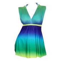 Women's V Neck One Piece Summer Beach Swim Dress Swimsuit M-5XL - $23.99