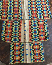 Lot of 3 Completed Southwest Western needlepoint canvas graduating sizes - $29.69