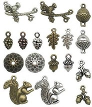 Squirrel Acorn Charms-100g (about 65-70pcs) Craft Supplies Mixed Pendan... - $20.37