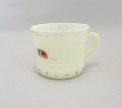 Heisey Custard Glass Ring Band Hand-Painted Cup - $13.86