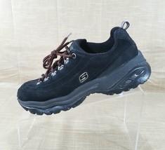 Skechers Sport Premium Nubuck Leather Sneakers Womens Size 6.5 Black 1718 - £17.87 GBP