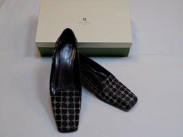 Kate Spade 7.5 Narrow AA Myra Black Gray Mini Noel Flat Ladies Dress Shoes Dots - $29.99