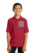 Personalized Kids Red Polo Shirt Embroidered Monogrammed with a Name or ... - $19.99