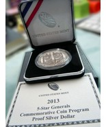 2013 P 5-Star Generals Commemorative Coin Program Proof Silver Dollar LI... - $71.02