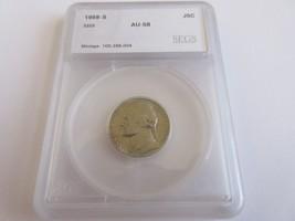 1968-S , Jefferson Nickel , AU - $5.94
