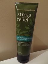 New Bath & Body Works Stress Relief Aromatherapy Eucalyptus Body Cream 8 Ounce - $11.99