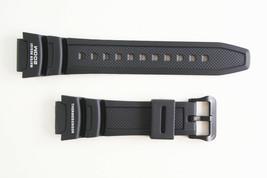 Genuine Casio Watch Band STRAP Black Rubber RESIN AQW-101 10314483 - $21.95