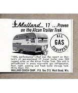 1960 Print Ad Mallard 17 Travel Trailer Alcan Trek West Bend,WI - $8.42