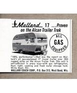 1960 Print Ad Mallard 17 Travel Trailer Alcan Trek West Bend,WI - $8.42