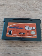 Nintendo Game Boy Advance GBA Disney*Pixar Monsters, Inc. & Finding Nemo Combo image 2