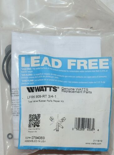 Watts LFRK909 RT Total Valve Rubber Parts Repair Kit 0794069