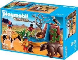 Playmobil 5252 Western Native American Children with Bear Cave New sealed - $148.67