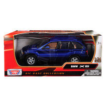 BMW X5 Blue 1/24 Diecast Model Car by Motormax 73254bl - $33.25