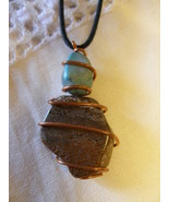 Gemstone Wire Wrapped Handcrafted Necklace Custom Made to Order Adjustable Cord  - €16,68 EUR