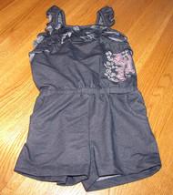 Calvin Klein Jeans little girls blue 4 4T toddler romper 3821640-10 MCS ... - $21.23