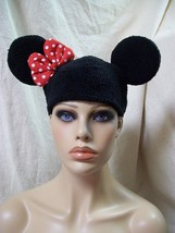 Fun Licensed Disney Minnie Mouse Beanie Hat with Ears & Bow Costume Miss... - $14.18