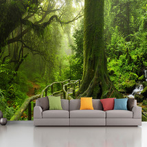 custom photo wallpaper murals living room sofa bedroom backsplash decor 3d Green - $46.95