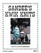 Sandee's Kwik Knits Easy Mix & Match Coordinates Book 11 Sandee Cherry 1992 - $7.05