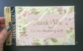 Vtg Gibson Thank You For The Wedding Gift Cards 8 Pack Includes Checklist - $11.87