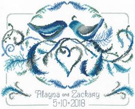Love Birds Wedding cross stitch chart Imaginating - $5.40