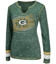 Majestic Women's Green Bay Packers Gametime Gal Slubbed Top Long Sleeve Tee NWT