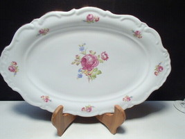 """Vintage Schaller Bavaria Dresden Flower Oval Serving Platter  ~ 15"""" x 10... - $29.99"""