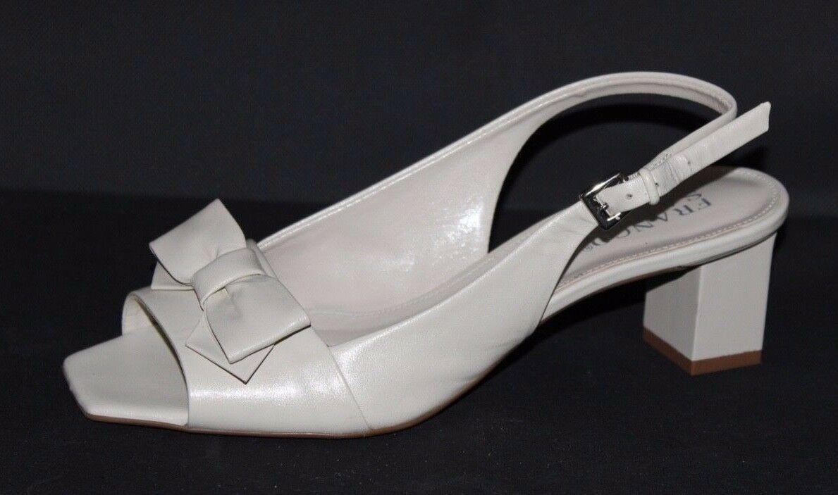 Franco Sarto Héritage Femmes Talons Chaussures en Cuir Beige Taille 6M image 6