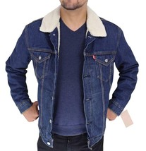 Levi's Men's Premium Button Up Denim Fleece Lined Jeans Jacket 72336001 size L image 2