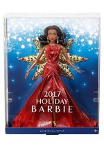 Barbie Collector 2017 Holiday Nikki Black Hair Red Dress DollBrand New AAL2 - $12.59