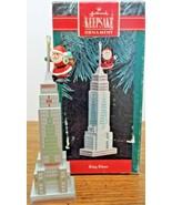 Hallmark Keepsake King Klaus Ornament 1990 Santa on Top of Sky Scraper N... - $8.90