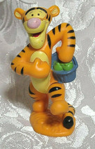 "Tigger Basket Winnie The Pooh 3"" PVC Figure Figurine Disney Cake Topper Tiger"