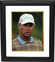Davis Love, III signed PGA 8X10 Photo Custom Framed (white hat) - $108.95