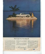 Ford Thunderbird How To Get Away From It All 1963 Vintage Antique Advert... - $1.50