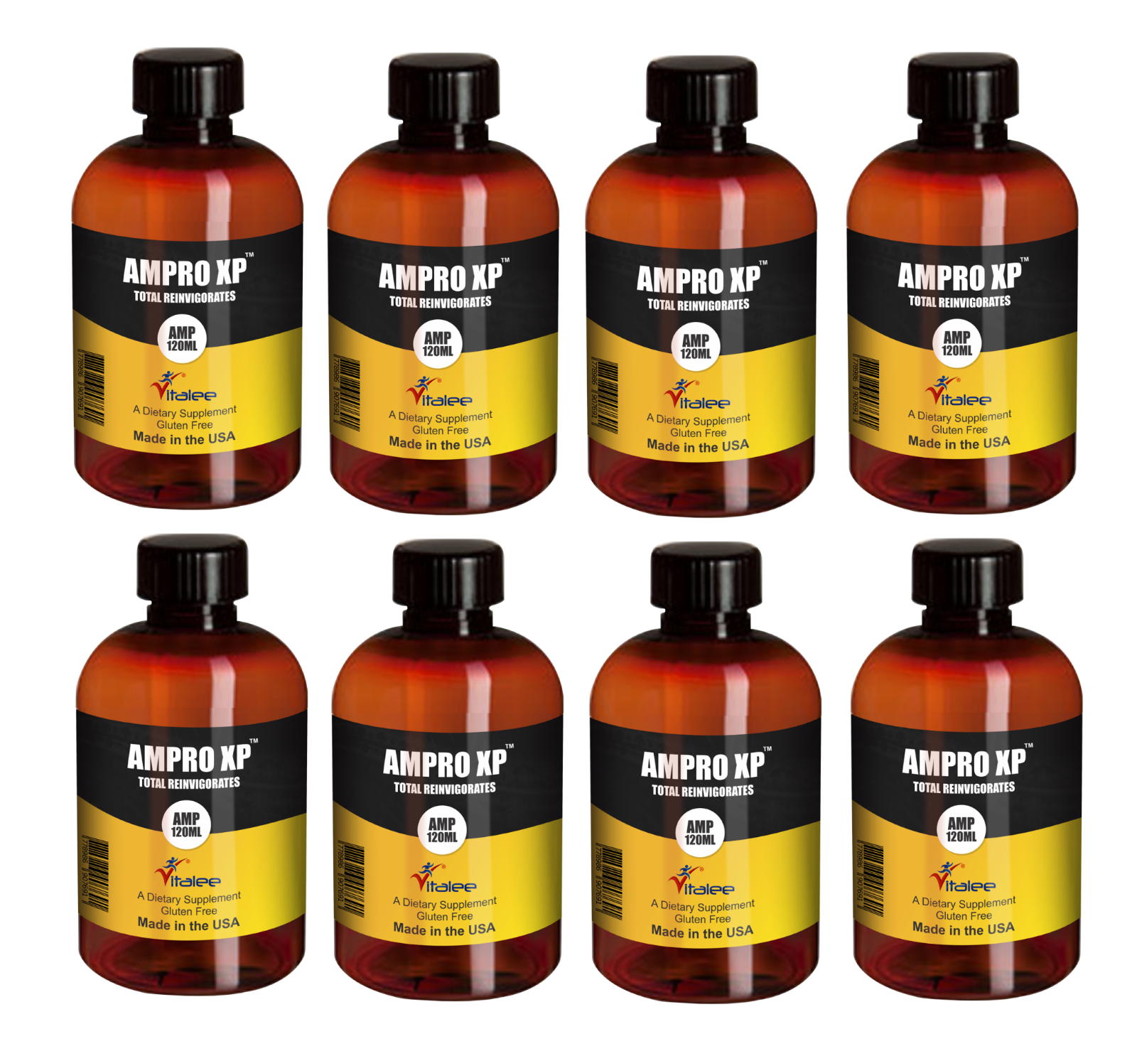 Primary image for Ampro XP Super Energy Booster Pack of 8 Bottles. (120 ml each bottle)