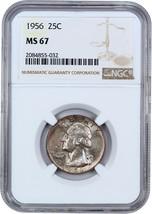 1956 25c NGC MS67 - Washington Quarter - $82.45