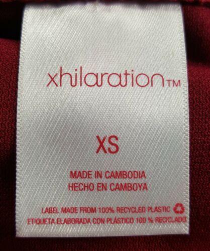 Xhilaration Juniors Size XS Garnet Red White Cheeky Open Side Swim Bikini Bottom
