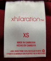 Xhilaration Juniors Size XS Garnet Red White Cheeky Open Side Swim Bikini Bottom image 3