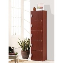 5 Door Storage Cabinet Shelf Organizer Bookcase Pantry Cupboard Closet C... - $71.18+