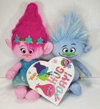 "Dreamworks TROLLS Hasbro Poppy & Guy Plush 21"" + HUG DAY Board Book - $24.99"