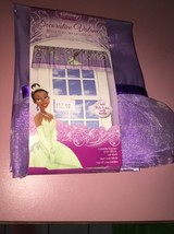 "NEW in Pkg DISNEY Princess TIANA Purple VALANCE 50""x17"" Poly Satin w/Ruffle - $11.88"